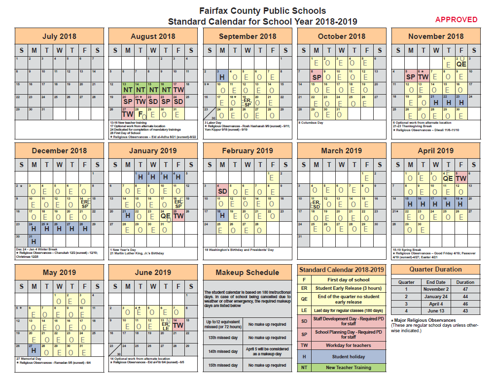 Fairfax County School Calendar 2019 Bell Schedule | Herndon Middle School
