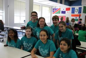 Image of Teal team gets together before the competition
